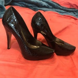 Steven Steve Madden black patent heels size 7
